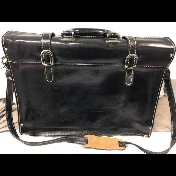 Italian Laptop Business Bag Floto Trastevere Leather Briefcase
